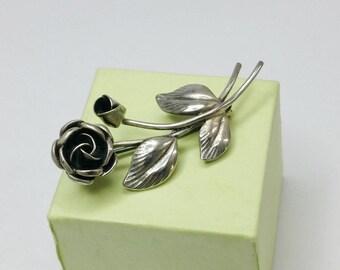 Nostalgic flower brooch sterling silver SB145