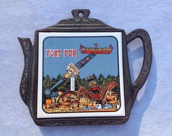 Vintage Fort Fun Tile Decoratie Retro Theme Park Tile
