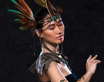 Bird Of Paradise ~ Fantasy Feather Headdress