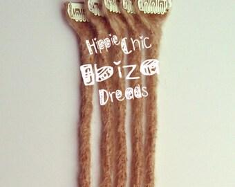 5 Clip-in Human hair dread extension - Caramel Blond