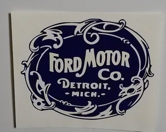Old School Ford Logo Vinyl Decal Sticker - Free delivery!