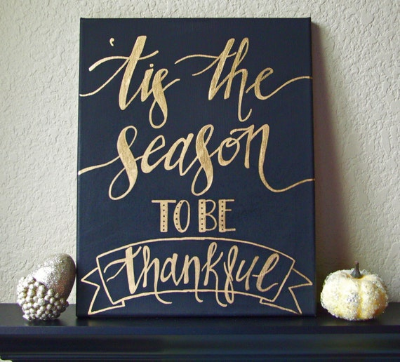 Fall Sign, Tis The Season to Be Thankful Sign, Fall Wall Hanging, Fall Art, Autumn Sign, Thanksgiving Sign, Thanksgiving Decor, Fall Quote