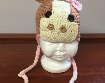 Girl horse crochet hat, horse hat,  horse costume