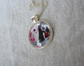 Princess Bubblegum and Marceline the Vampire Queen - Adventure Time Necklace