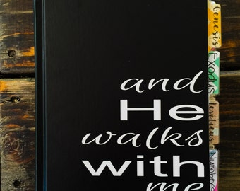 MORE COLORS available! And He Walks With Me Vinyl Decal
