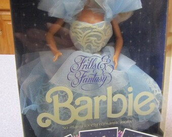 Brand New in Box Frills and Fantasy Barbie Doll #1374 Made in 1988 Never Removed From Box Special Walmart Limited Edition