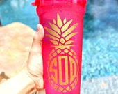 Monogrammed Pineapple Decal