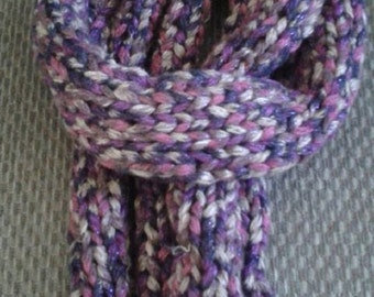 Thick and Chunky Purple, Pink, Brown Multi Color Scarf