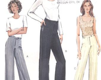 Vogue sewing patten - flat front pants - Size 6-8-10