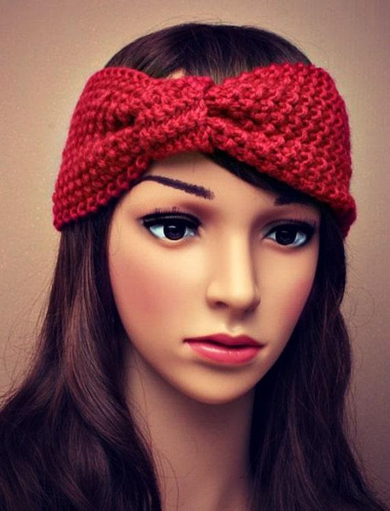 Knitted Headband Chunky Headband Ear Warmer by ...