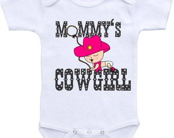 Mommy's Cowgirl Baby outfit Cowgirl onesie Girl Baby Onesies Baby shower gift Western Onesie Rodeo onesie Baby Cowboy Onesie cowgirl baby