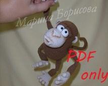 Unique crochet monkey related items Etsy