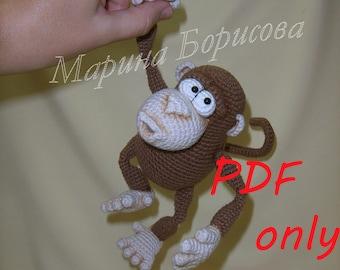 Funny Monkey Crochet Pattern amigurumi PDF