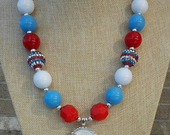Tennessee Titans Inspired Chunky Necklace