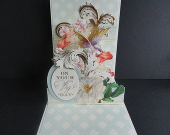 Handmade  pop up card for any occasion, Birthday, Wedding,