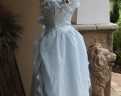 Vintage Cinderella Ball Gown 80s Jessica McClintock Romantic Gunne Sax  Powder Blue 11 Misses Prom Wedding Quince