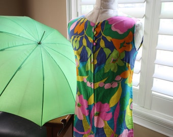 1960s Mod Romper Funky Colorful Jumpsuit Palazzo Bottoms S M Midcentury Retro