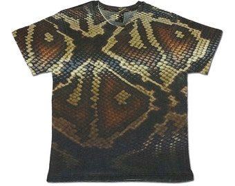 All Over Print Snake Graphic T Shirt Skin Reptile Sublimation Trendy Cool Festival Fashion