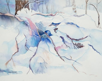 Under the Snow Original Watercolor (unframed)