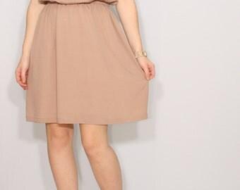 Light brown dress | Etsy