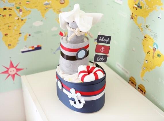 Sailor Boat Diaper Cake