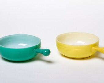 Glasbake handle bowls