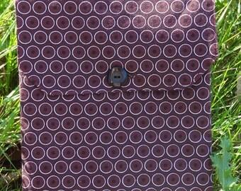 Tablet Sleeve: Maroon Dots