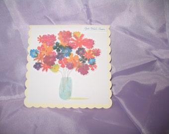Flowery get well soon card