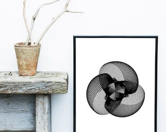 Abstract Print, Printable Art, Instant Download, Black Art Print, Scandinavian Art, Home Decor, Wall Decor, Wall Art, Digital Download