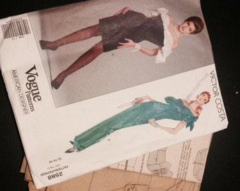 Vintage Vogue Pattern - Victor Costa - 2588 - 1990s