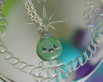 Sparkly Kawaii Ornament Polymer Clay Charm