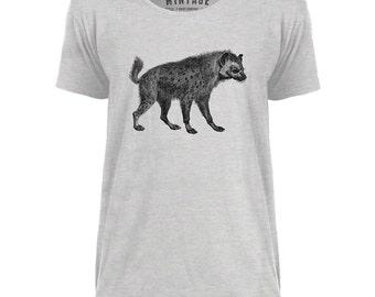 Mintage African Hyena Mens Scoop Neck T-Shirt
