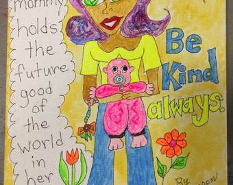 A Mommy Holds the Good Of The World In Her Hands