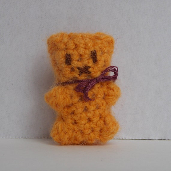Amigurumi Little Teddy Bear : Honey bear tiny crochet amigurumi teddy bear little bear