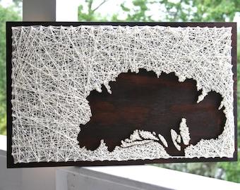 "String Art Tree | 37""x24"" Tree of Memories | Tree String Art"