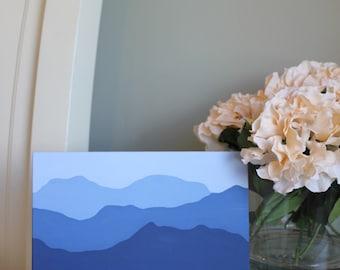 Mountain Range 8 x 10 Canvas