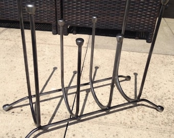 Steel Welly Rack Handmade made to order