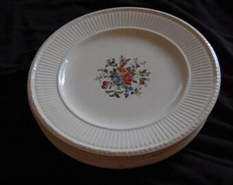 Vintage Wedgewood Edme Conway Floral Pattern Dessert Plates