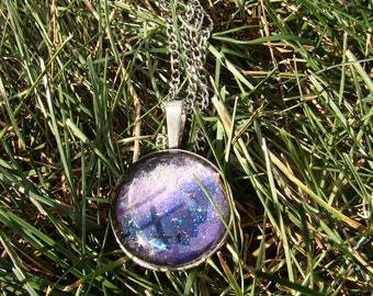 Milky Way | Hand-Painted Galaxy Pendant Necklace