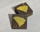 Pick State, Pick Color, South Carolina Wooden Coasters, Set of 4, Wedding Gift, Housewarming Gift