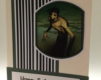 Magic the Gathering Fathers Day Card Zombie