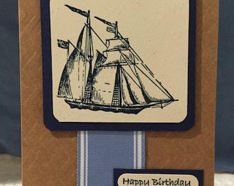 Birthday Boating Card