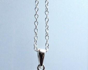 Sterling Silver 3D heart pendant