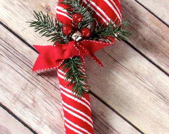 Fabric Candy Cane Ornament