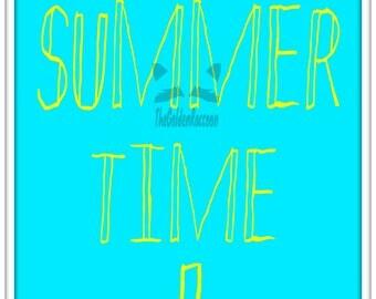 Summer Time Print Sunny Sea