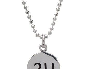 21.1 Half Marathon Necklace