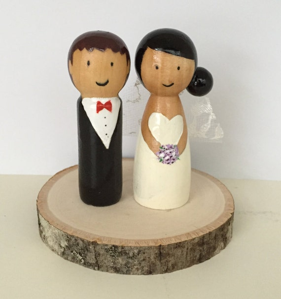 peg doll wedding cake toppers uk custom peg doll wedding cake topper and groom 18184