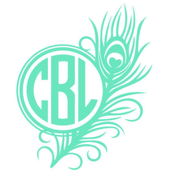 Items Similar To Peacock Feather Monogram On Etsy