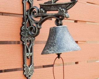 Cast Iron Doorbell Sail Boat Decorative Hanging Door Bell Antic Antique Rust Rustic