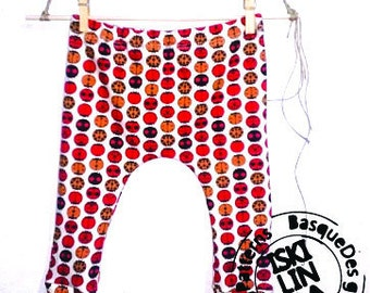 Handmade organic cotton baby pants. size 0-3 months